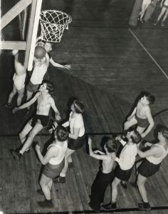 Action Shot of the Boys in the Gym - November 27, 1941