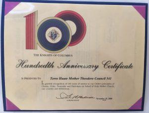 Hundredth-Anniversary-Certificate