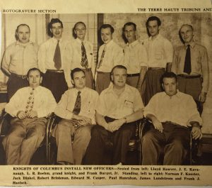 Knights of Columbus Officer Installation - August 1, 1948