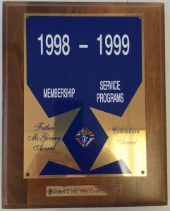 McGivney---Columbian-Award-1998-1999