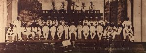 Picture from Tribune Star 1950 of First Minstrel Show Sponsored by K of C in 1909