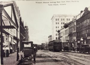 Wabash Avenue Looking East Early 1900s