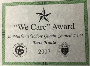 We Care Award 2007