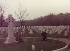 Cleanup at St Mary of the Woods Cemetery-2