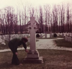 Cleanup at St Mary of the Woods Cemetery