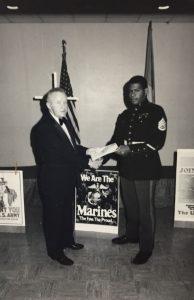 Edward Froning Recognizing the Marine Corps