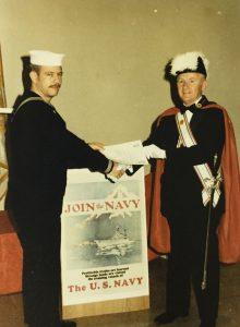 GK Edward Froning Recognizing the US Navy